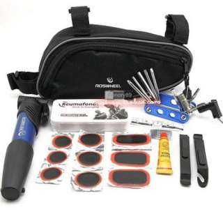 2012 Cycling Bicycle tools Bike repair kits with Pouch Pump blue