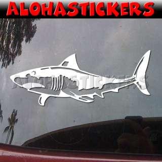 GREAT WHITE SHARK Vinyl Decal Car Truck RV Sticker B69