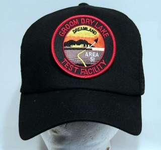 AREA 51 Groom Lake Baseball Cap/Hat w Patch
