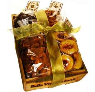Organic Dried Fruit and Nut Crate Gift Baskets WorldofGood by