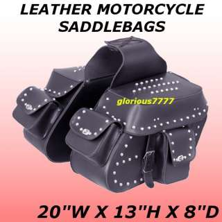 New 462 Leather Motorcycle Saddl fit Harley Softail Deluxe Fat