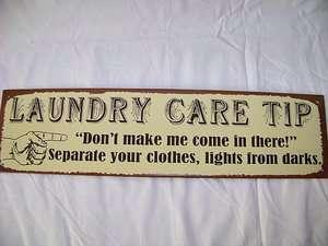 WALL DECOR  Tin Laundry Room Sign  LAUNDRY HUMOR