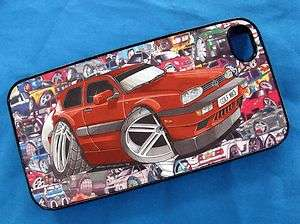 GTi Volkswagen Koolart Sticker bomb i Phone iPhone 4 4S Hard Case