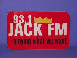 Jack FM 93.1 Radio Station Car Bumper Sticker