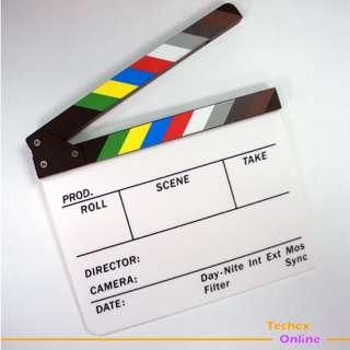 TV Directors White Clapper Hollywood Drama Rehearsal Board Slate New