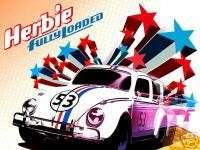 Herbie The Love Bug Race Car 3 5x7 Iron on transfer