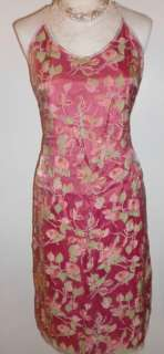 LAUNDRY Pink Floral Silk Halter Dress LOVELY12