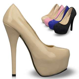 New Classic Womens Shoes Platforms Stilettos High Heels Pumps Multi