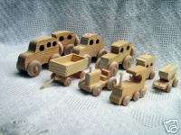 Wooden Toy Assortment (Train,Cars,Tractor/Wagon)#1