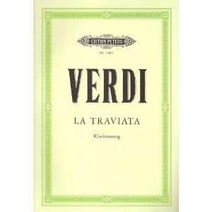 La Traviata (Oper in 3 Akten) Klavierauszug  Giuseppe