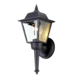 Bay Black 1 Light Outdoor Wall Lantern BPL1611 BLK at The Home Depot