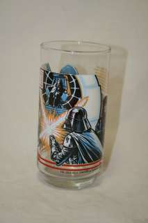 STAR WARS Return of the Jedi Luke vs Vader Coke Burger King Glass Cup