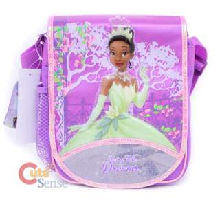 Princess Tiana School Large Backpack Lunch Bag Set