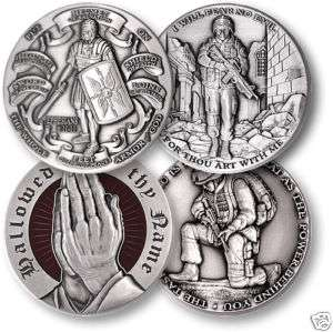 CHRISTIAN SOLDIER SET OF 4 ARMOR OF GOD CHALLENGE COINS