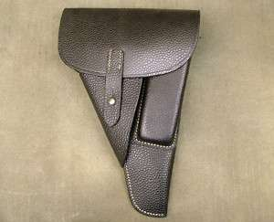 German WWII P 38 Softshell Pebble Grain Leather Holster