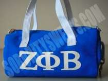 ZETA PHI BETA MINI DUFFEL BAG. A lil grab and go bag!