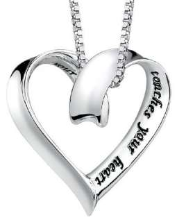 TRUE FRIEND Message Pendant Necklace Sterling Silver Gift for Best