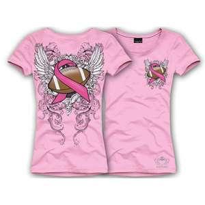 KATYDID Breast Cancer PINK Ribbon FOOTBALL Shirt PINK 3XL