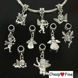 lots 30pcs Tibetan Angel Fairy DANGLE Charms Bead
