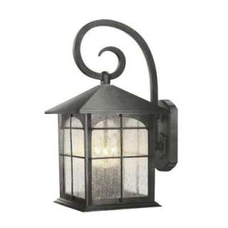 Hampton Bay Wall Mount Outdoor Solar Light Fixture 79257 At The Home
