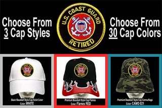 COAST GUARD RETIRED Baseball CAP 3Styles 30Colors