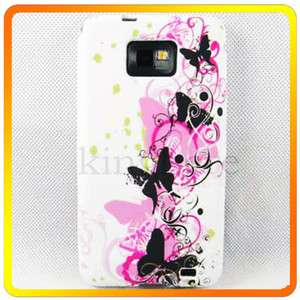 Fashion Soft Butterfly Silicone Rubber Case Cover For Samsung Galaxy