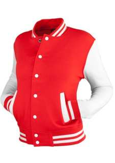 URBAN CLASSICS LADIES 2 TONE COLLEGE SWEAT JACKE Rot