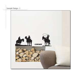 COWBOY ★ Mural Art Wall STICKER Vinyl DECAL Removable