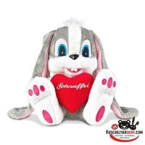 Schnuffel Hase Plüsch mit Herz   ca. 17 cm: .de: Spielzeug