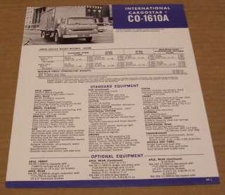 International 1972 IH Cargostar CO 1610A Truck Brochure