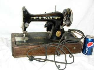 ANTIQUE VINTAGE 1927 SINGER SEW SEWING MACHINE W/CASE