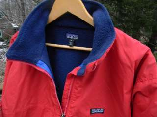 Mens M Medium Red Nylon Fleece Lined Winter Jacket Coat