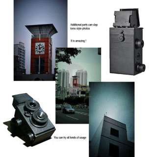 DIY Twin Lens Reflex Film Lomo (TLR) Plastic Toy Camera + FUJIFILM