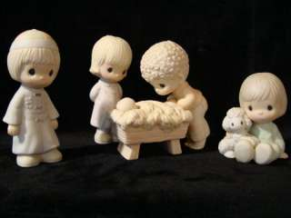 Precious Moments 1984 Deluxe 4 PC Nativity Set Suspended