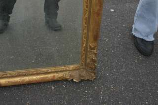 GREAT CARVED WOOD GESSO ROCOCO FRENCH MIRROR PICTURE FRAME SHABBY CHIC
