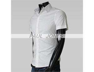 Mens Slim Fit Dress Shirt XS S M Collection q12