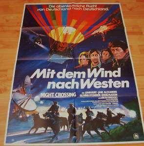 DDR Flucht Plakat MIT DEM WIND NACH WESTEN John Hurt