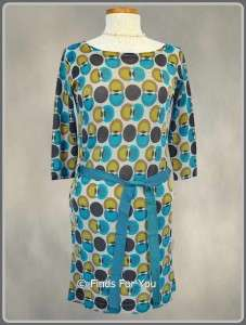 New Boden Blue/Brown Retro Spot Knit Tunic/Dress Size 10 UK or 6 US