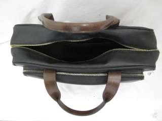 Unisex Bottega Veneta Black Textured Leather Oversized Brief Case