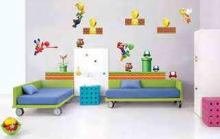 GIANT Super Mario bros Decal REPOSITIONABLE Removable WALL STICKER