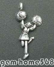 50 Tibetan Silver Dancer Charms Pendants Special Offer