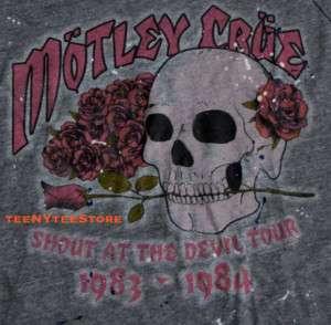 MOTLEY CRUE t shirt JUNK FOOD OFF THE SHOULDER SPLATTER PAINT TRI