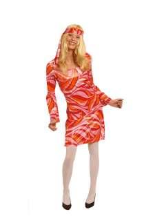 Kostüm Retro Kleid Hippie 70er Jahre Gr.36 46 Fasching Karneval NEU