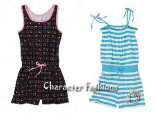 HELLO KITTY ROMPER Size 4 5 6 6X 7 8 10 12 14 16 Outfit Shirt Shorts