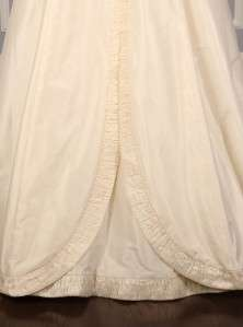 Mischka Hope Ivory Silk Taffeta Sweetheart Couture Wedding Dress Gown