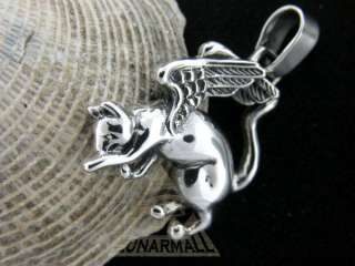 Egyptian Silver Angel Bastet Cat Goddess with Wings