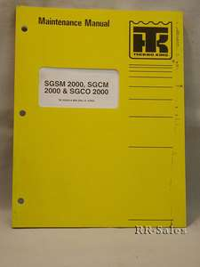 Thermo King SGSM SGCM SGCO 2000 Maintenance Manual
