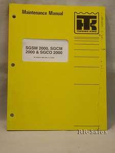 Thermo King SGSM SGCM SGCO 2000 Maintenance Manual |