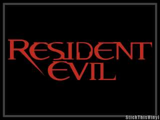 Resident Evil Logo Game Die cut Decal Sticker (2x)