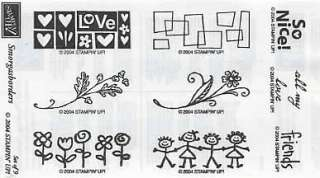 Stampin Up Smorgasborders Rubber Stamp Set